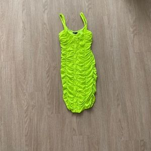 Women's neon ruched dress